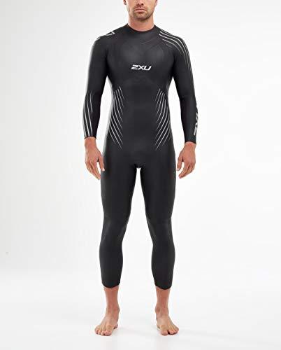 2XU Mens P:1 Propel Triathlon Wetsuit MW4991C - Black Silver Shadow - Easy Stretch