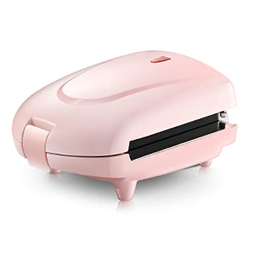 TASGK Mini Sándwich Máquina Eléctrica De Hierro Waffle Panini para Hornear Pastel Horno Pan Muffin Desayuno Tostadora 3 Placa Opcional,Rosado