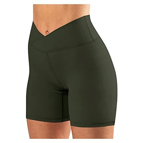 QiFei Laufshorts Fitness Yoga LeggingsUnterhosen Radlerhose Boxershorts Damen Hoher Bund Baumwolle Shorts Panties Lange Unterwäsche Damen Tights Shorts Sport Kurze Hosen