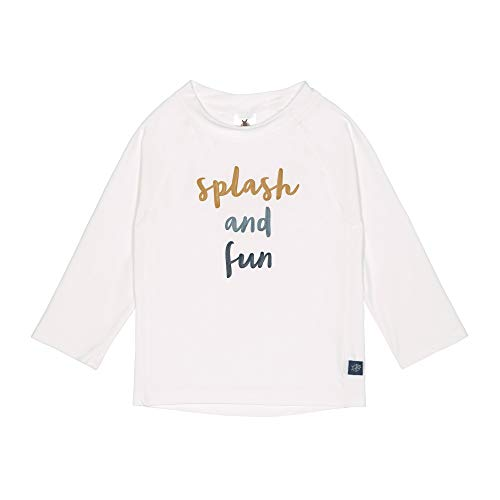 LÄSSIG Rashguard Camisa de protección de Sarpullido, Splash 'N Fun, Color Blanco y Azul, 12 Meses Unisex bebé