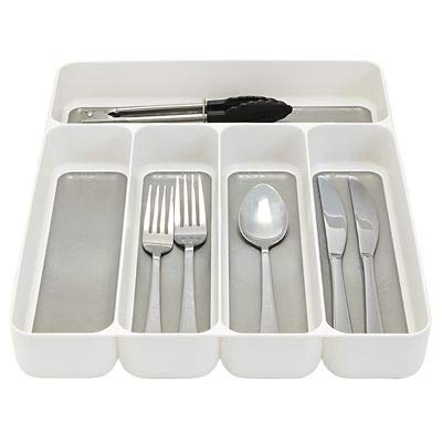 Lakeland Stay Put 5 Compartment Cutlery Drawer Organiser Tray 28 X