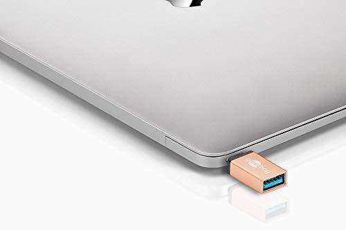 Goobay 56622 USB-C / USB-A OTG Super Speed Adapter für den Anschluss von Ladekabeln - Wandelt USB-C Buchse in USB-A Buchse um
