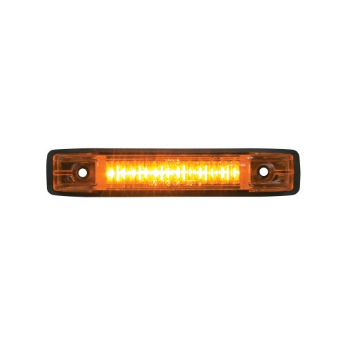 GG Grand General 77650 Amber Thin Line 6-LED Marker and Clearance Sealed Light, Amber/Amber