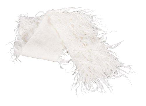 Rayher Hobby 55800102 Langhaarplüsch, Textil, Weiß, One Size