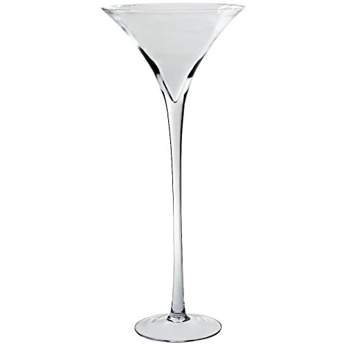 CRISTALICA Glasschale auf Fuß Martini XXL Famous 70cm Kerzenhalter Deko Klarglas Geschenk