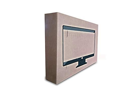 """Versandverpackung für TV Fernseher Flachbildschirm 32\"""" (Karton inkl. Eckenschutz und Luftpolsterfolie)"""