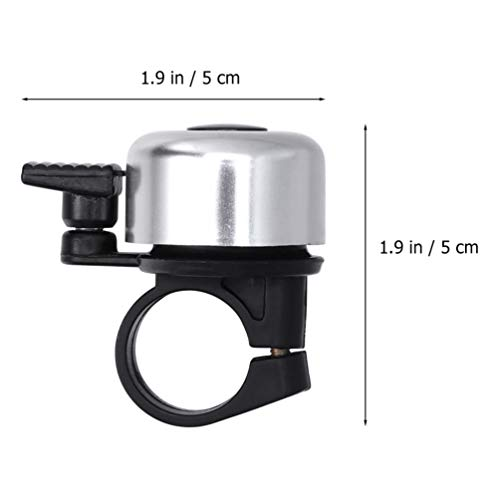 LIOOBO 10pcs Bike Bell Metal Bicycle Bell Cycling Ringing Bike Horn Ring Bike Accessories for Mountain Cycle Road Bike (Random Color)