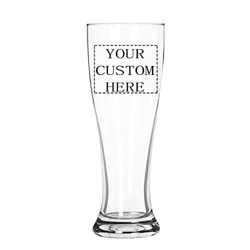 Vaso de pinta de tulipán grabado, personalizable, paquete de 4 unidades, vaso de cerveza de sidra grabado, personalizable, con cualquier mensaje para cualquier ocasión