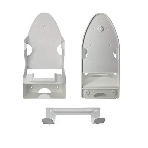 DUWEE Hitzebeständiger Kunststoff Bügeleisenhalterungen mit Bügelbretthalter und Hitzebeständig Bakelit,Starker und Sicherer Halterung für Dampfbügeleisen (Weiß).