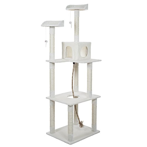 PETMAKER Sleep and Play Cat Toy Tree 6#039 Ivory