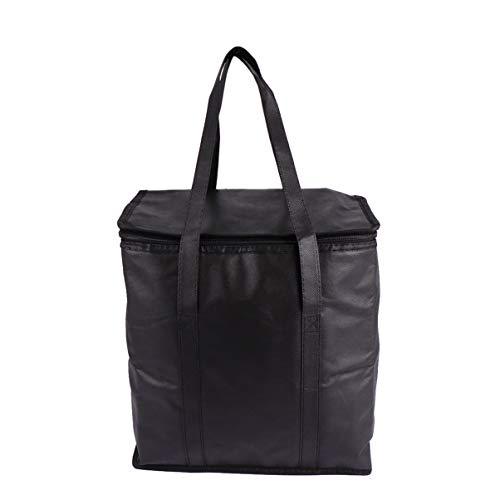 BESPORTBLE Isolierte Wiederverwendbare Einkaufstüte mit Griff Und Reißverschluss Hochleistungs-Thermotaschen Lunch-Tasche Lebensmittel-Einkaufstasche für Camping-Picknick