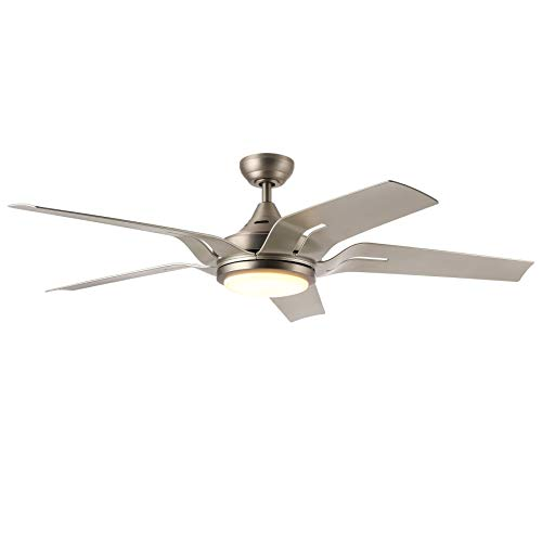 CO-Z 56-Inch Contemporary Ceiling Fan with Five Silver ABS...