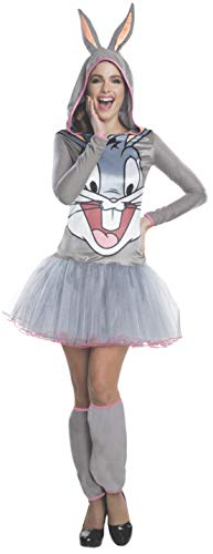 Rubie's Women's Looney Tunes Bugs Bunny Hooded Costume Dress, Gray, Large - http://coolthings.us
