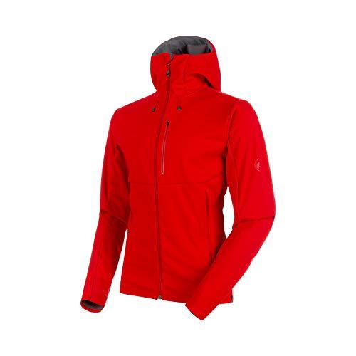 Mammut Herren Ultimat V Hooded Softshell-Jacke mit Kapuze, Magma-Titanium, XXL