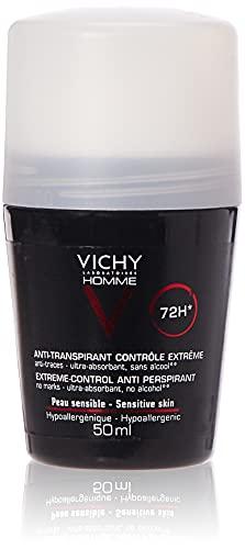 Vichy Homme, Deodorante anti-traspirante, 48 H,...