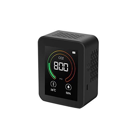 Galapare Medidor de Co2, Herramienta de detección multipropósito de Humedad de Temperatura de CO2 de Pantalla Grande Inteligente Monitor de Calidad de Aire USB Instrumento de Prueba para el hogar