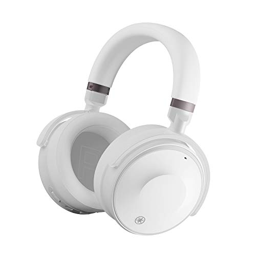 Yamaha YH-E700A Cuffie Over-Ear Wireless Bluetooth, Cuffie Senza Fili con Cancellazione Attiva Avanzata del Rumore, 35h di Autonomia, Chiamate e Assistenza vocale a Mani Libere, Bianco