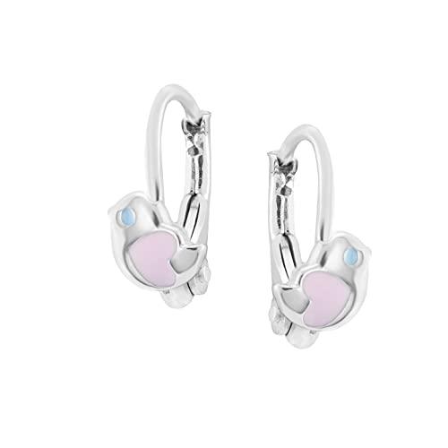 Ohrringe Silber 925 aus Zirkonia mit Dem Thema der Vögel - Juwelkerze Ohrringe Silber - Ohrringe Mädchen - Swarovski Kristallen - Damen Schmuck Silber (Vögel)