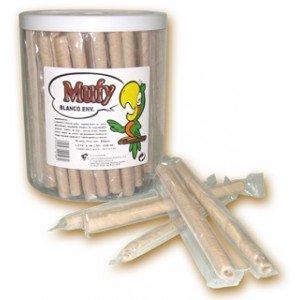 Barquillo bañado chocolate blanco - Mufy - 90 unidades