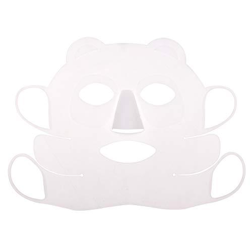Maschera Facciale in Silicone, Copri Maschera Facciale in Silicone Riutilizzabile con Gancio per Orecchio Evita lo Strumento di Bellezza del Salone di Evaporazione del Siero