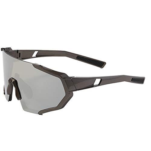 WOXING Polarizadas Sin Montura Gafas De Sol Deportivas,Vintage Antideslumbrantes Gafas De Sol,Protección UV Gafas,Mujer Hombre Conducir Ciclismo Correr Pesca-G 14.5x6.2cm(6x2inch)