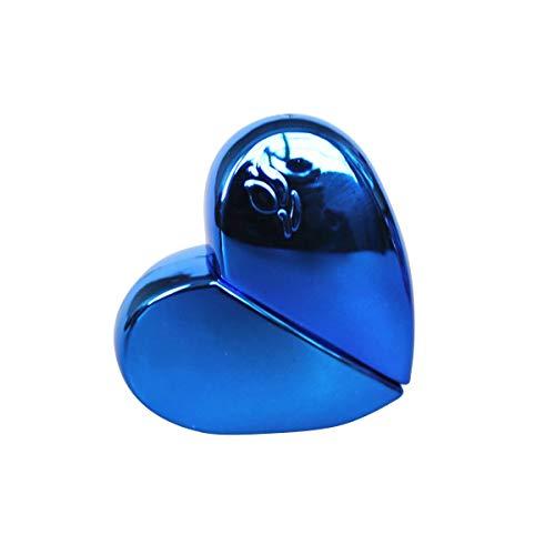 HaiQianXin 25 ml Herzform Nachfüllbar Leere Parfüm Zerstäuber Flasche Reise Duftpumpe Sprühflasche Parfüm Container (Color : Blau)