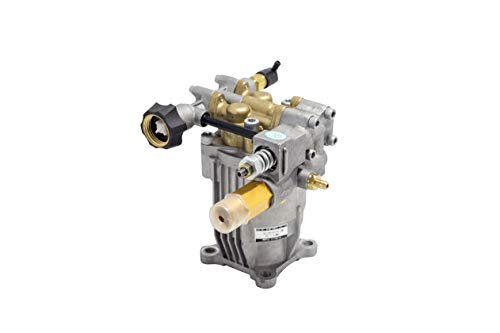 "PEGGAS - Horizontal Pump - 3/4"" Shaft - 3000-3200 PSI - 2.5 GPM - Replacement Pump - Brass Head - Pressure Washer Pump - Axial - Power Washer"