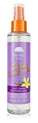 Tree Hut Bare Tahitian Vanilla Post Shave Mist, 4.8 fl oz, After Shave Spray, Soothe & Smooth Against Razor Bumps & Ingrown Hairs, For All Skin Types