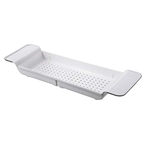 Seasaleshop Telescopische badkuipbrug, universeel, lengte verstelbaar, badkuip, organizer, badkameraccessoires.