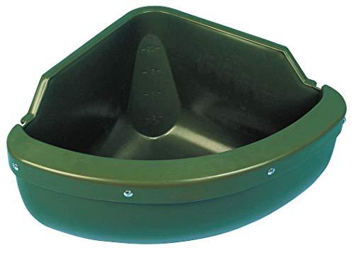 Eider Eck-Futtertrog für Tiere, mit Beiß- und Auswurfkante, Kunststoff, 31 L - Platzsparend durch Eckmontage - Sehr Stabiler Vollkunststoff - Abgerundet und Tiergerecht