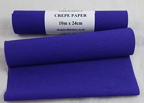 C61DB 2 rollos de papel crepé azul oscuro 24 cm x 10 metros