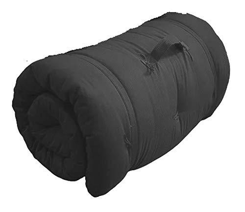 Colchonete Futon Camping Dobrável Orthovida D20 180 x 60 x 7 cm - Preto