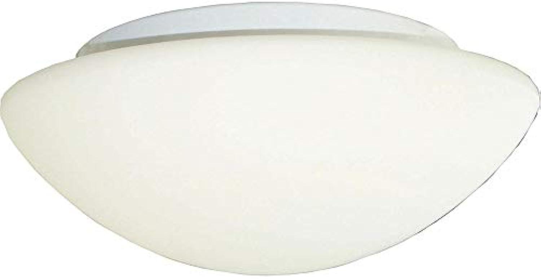 LeuchtenDirekt Deckenleuchte, Glas^Eisen, E27, 60 W, weiss, 30 x 30 x 11 cm