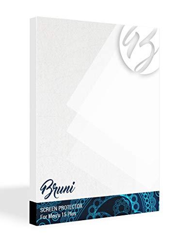 Bruni Schutzfolie kompatibel mit Meizu 15 Plus Folie, glasklare Bildschirmschutzfolie (2X)