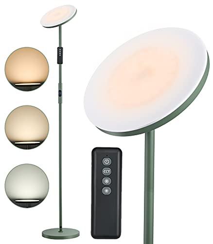 Anten LED Stehlampe Matcha Grün | 30W Stehleuchte Dimmbar mit Fernbedienung | 3 Farbtemperatur | Touch-Taste | Memoryfunktion | Modern Standleuchten für Wohnzimmer, Schlafzimmer, Arbeitszimmer, Büro