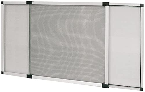 Zanzariera Estensibile in Alluminio con Telaio per Porte e finestre con tapparella misura 50x75cm Multidirezionale