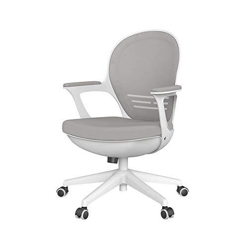 CHAIR-S Drehstuhl-Computerstuhl Home Study Stuhl, Schreibtisch, Stuhl Studentensitz Study Stuhl Eggshell Stuhl Drehstuhl Bürostuhl (Hellgrau, Weiß) CHAIR-S (Color : Light gray)