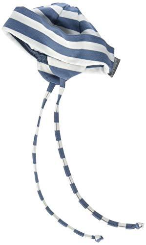 Sterntaler Unisex Beanie mit Bindebändern und Streifenmotiv, Alter: ab 12-18 Monate, Größe: 49, Graublau