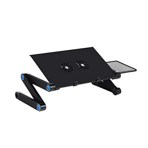 soges Laptopständer Tischständer Bettständer Laptoptisch mit Abnehmbarer seitlicher Mauspadhalterung Leichter Notebook Schreibtisch Bettablage