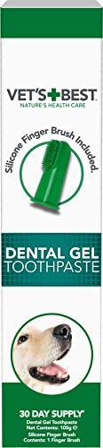Vet's Best Pasta de dientes para perros, limpieza de dientes y gel para el cuidado dental de aliento fresco, 100g