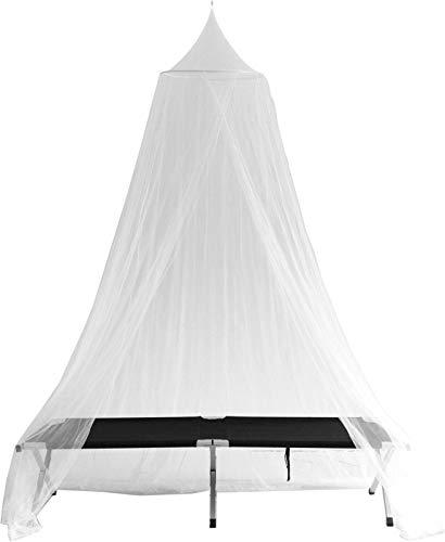 noorsk Moskitonetz Fliegennetz für Einzel- und Doppelbetten mit Popup Ring - OneSize - Weiss