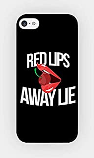 Compatible for iPhone 6 Plus/6S Plus TPU Plastic Case - Red Lips Away Lie - Sexy - Bitchy - Girly - Cherry - Sassy Quotes