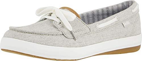 Keds Women's Charter Chambray Sneaker, Grey, 10 M US