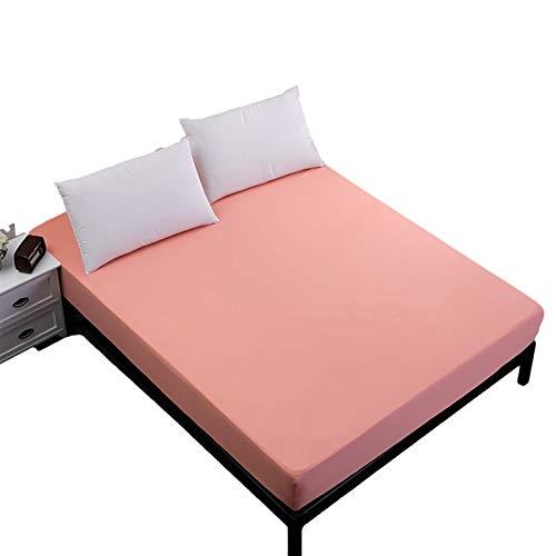 Madrasskåpa Queen Size-säng Djupficka Andas Och Ljudlös Pad Bäddmadrass Kudde Beskyddare Sängkläder Varmt Skydd För Husdjur Barn Vuxna (Color : Rose Red, Size : 180cmX200cmX30cm)
