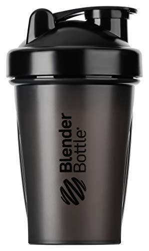 BlenderBottle Classic Shaker mit BlenderBall, optimal geeignet als Eiweiß Shaker, Protein Shaker, Wasserflasche, Trinkflasche, BPA frei, skaliert bis 400 ml, Fassungsvermögen 590 ml, schwarz