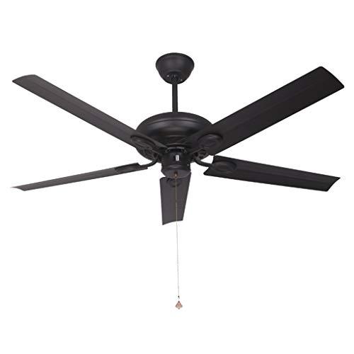L-Fan Viento Industrial Ventilador de Techo, Circulación Negro en avión Ventilador de Pared de Metal del Ventilador eléctrico de la Manera del Ventilador Decorativo (Color : A, Size : 42 * 125CM)