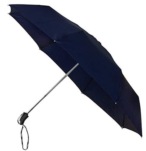MiniMAX Opvouwbare Paraplu Auto Open + Close - 100 cm - Marineblauw