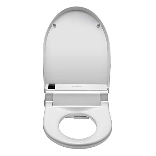 SmartBidet SB-3000 Electric Bidet Toilet Seat for Elongated Toilets with Wireless Remote Control with Screen, Unlimited & On Demand Warm Water, Spiral Stream Wash to help relieve constipation