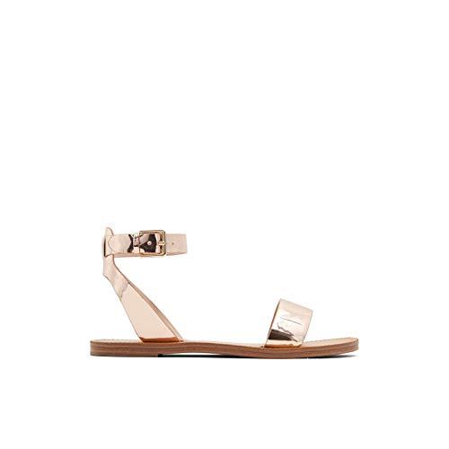 ALDO Women's Campodoro Flat Sandal, Metallic Multi, 7.5