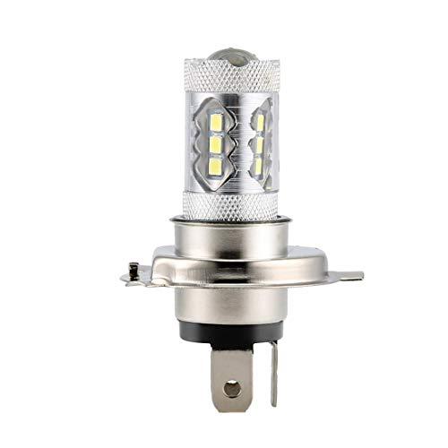 1pc 12V 80W Coche H4 Bombillas de faros LED Blanco H4 9003 HB2 para LE